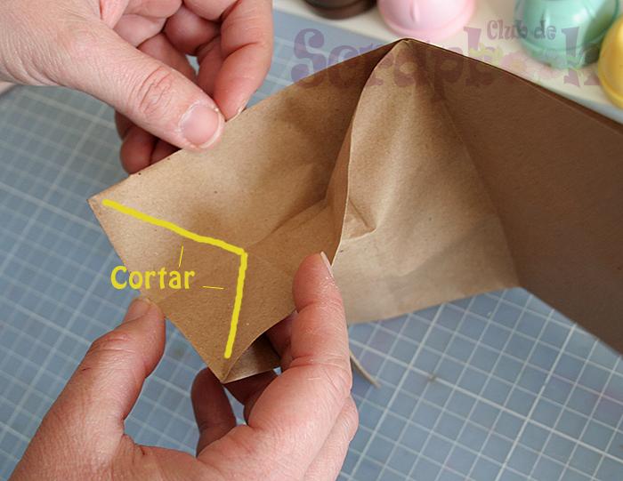 Cortamos los pliegues para dar forma