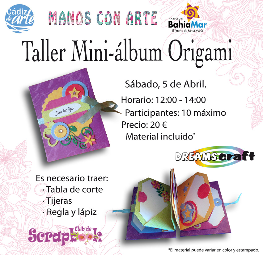 taller mini-álbum manos con arte